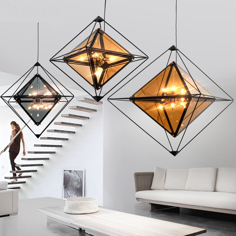 creative glass pendant lamps living room dining lamp designer personal coffee shop lamp glass pendant light ZA1031639 20 beige free shipping crystals string pendant light elegant living room pendant lamps fabric dining room pendant lamp
