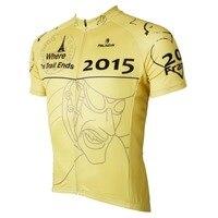 PALADIN 2015 TDF Where The Trail Ends Mens Short Sleeve Cycling Jersey Bike Shirt Cycling Clothing