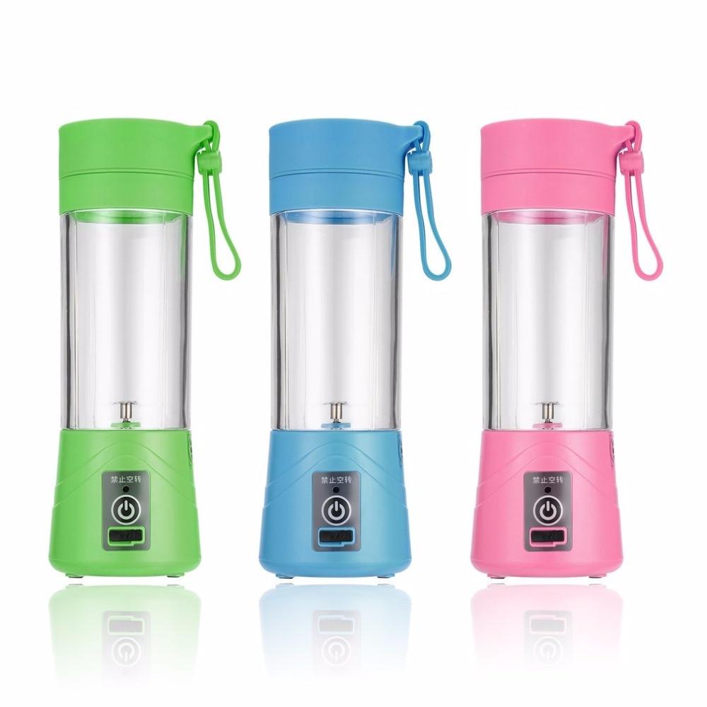 USB Rechargeable 380ml Juicer Bottle Cup Juice Citrus Blender Vegetables Fruit Milkshake Smoothie Squeezers Reamers Three Color