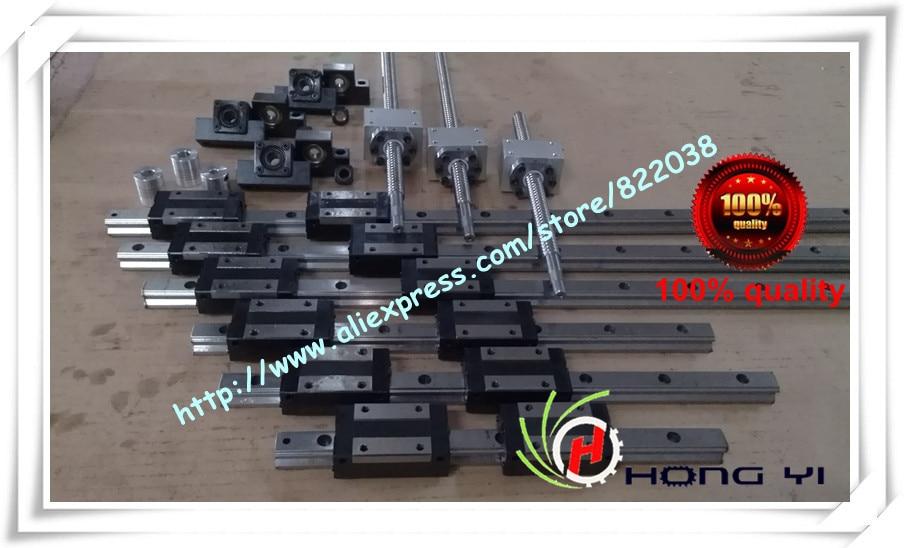 все цены на 6 x HIWIN HGH15 Square Linear guide sets + 3 x SFU / RM1605 Ballscrew sets + BK BF12 + couplings онлайн