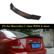 For Mercedes W204 2-door Coupe Spoiler R Style C Class C180 C200 C250 C260 Carbon Fiber Rear Spoilers Trunk Wing 2007-2014