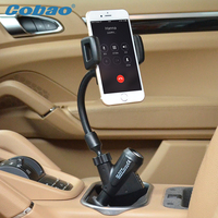 Mobile Phone Gps Navigation Dual Usb Car Charger Holder Mount Stand Support For Samsung Iphone Meizu