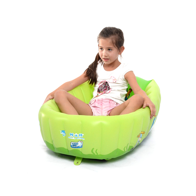 Home Use Baby's PVC Inflatable Square Bathing Tubs Newborn Baby's Lovely Tubs Anti-slip Baby Bathing Tubs Thicken And Safety