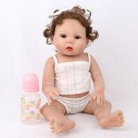 NPKDOLL Reborn Baby Doll Lifelike Newborn Girl 45cm Full Body Vinyl Silicone Cute lol dolls Birthday Gift Bath Toys Fashion