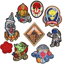 New Individuality Creativity Exquisite Alien Space Clown Patches for Clothing Movie Appliques Diy Embroidered