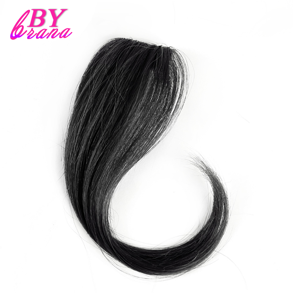 Bybrana Human Hair Bangs 4 Colors 10inch to 12inch 2 size Available long Remy Clip In Hair Fringe 100% Natural Hair