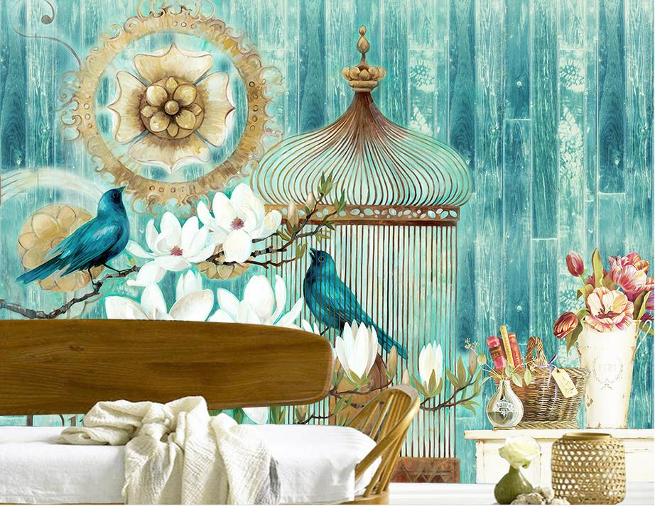 3d photo wallpaper custom mural room non woven bird vintage wood wall painting picture 3d wall - Pheasant wallpaper for walls ...