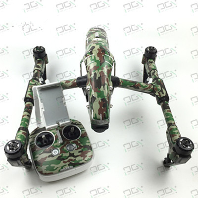 PGY Forest camouflage Skin for DJI inspire1 FPV Quadcopter drone RC Part accessories waterproof UV decals stickers set Newly Hot
