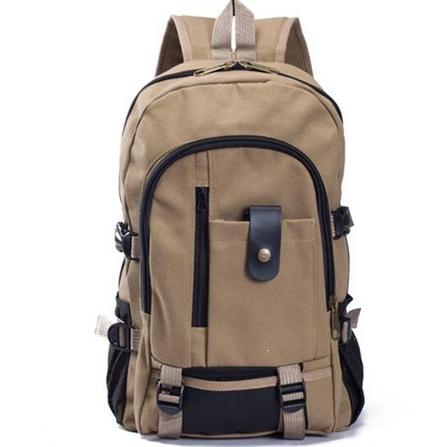 2019 New High Quality Fashion Casual Canvas Men Backpacks Shoulder Bags Classic School Bag Travel Large Capacity Bag B-038