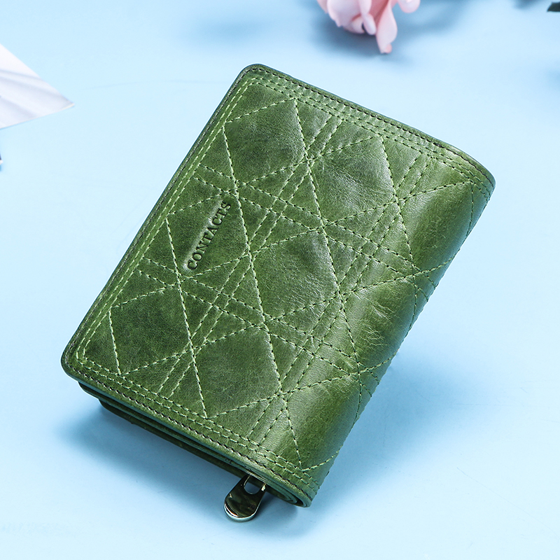 Women Wallets Purses Money-Bag Pocket Carteira-Card-Holder Contact's Embroidery Coin