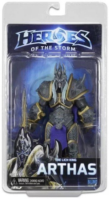 NECA Heroes of The Storm The Lich King Arthas PVC Action Figure Collectible Model Toy 18cm neca planet of the apes george taylor clothed pvc action figure collection model toy 8 20cm