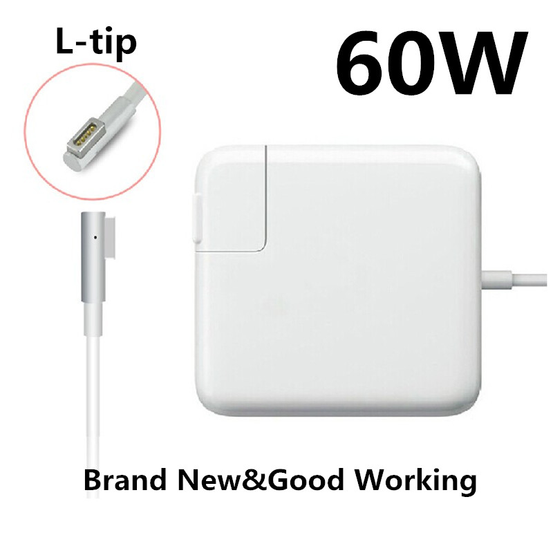 Replacement Magnetic L-tip 60W MagSaf* Laptop Power Adapter Chargers For Apple MacBook Pro 13'' A1181 A1184 A1278 A1330 A1344