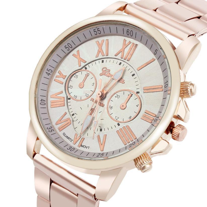 f66721adaaa Erkek kol saati Colorido Das Mulheres Dos Homens Elegante de Aço Inoxidável  Grande Mostrador do Relógio