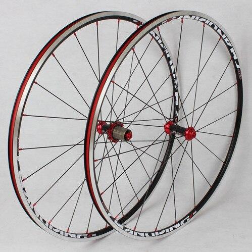 MEROCA 700C Carbon Fiber Road Bicycle Wheels Rim Drum 6 Claws 120 ring Sealed Bearing Wheels