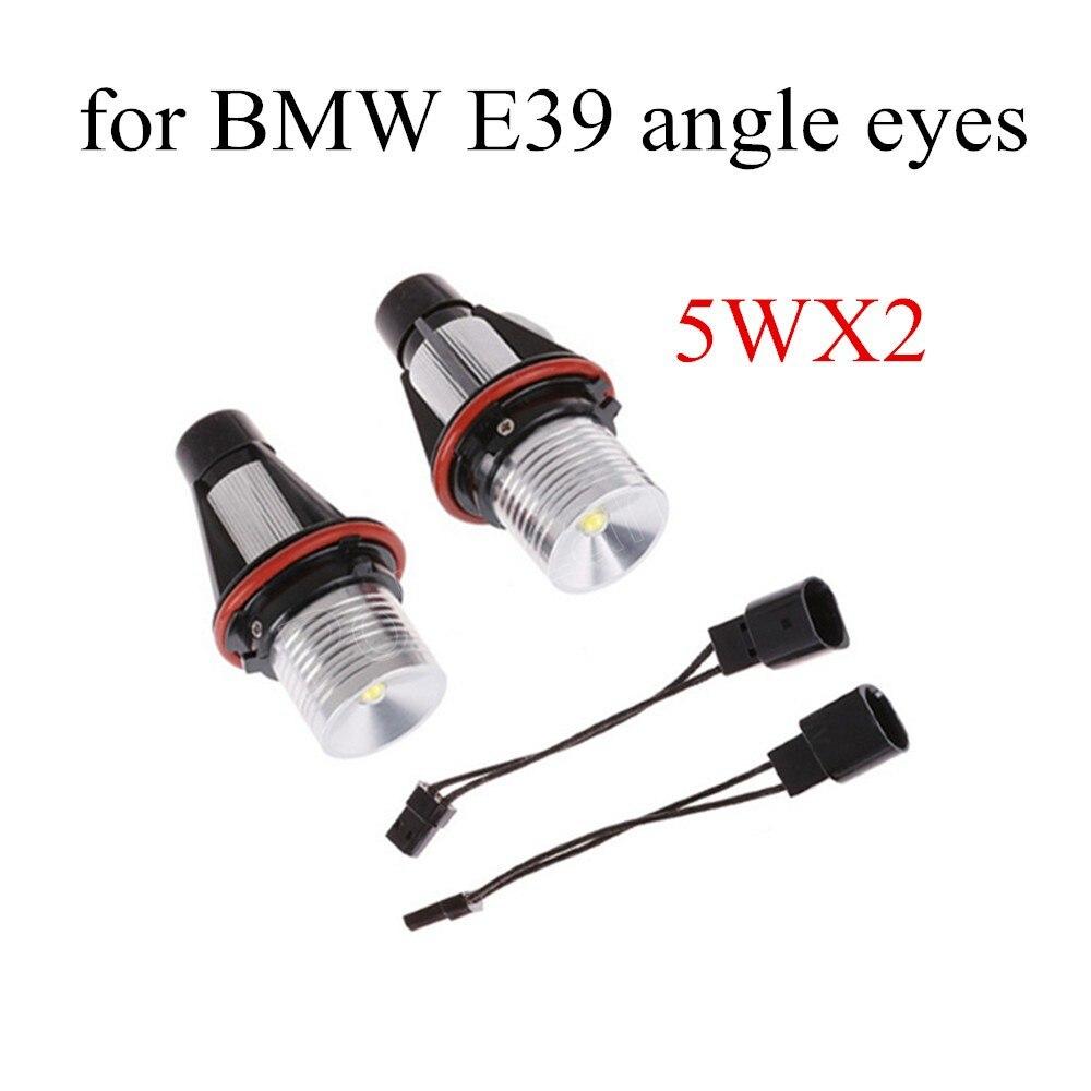 ФОТО 2Pcs/set 5Wx2 Car Angle Eye Ring Marker Lights Lamps Bulbs For BMW E39 E53 E60 E61 Auto Light new arrival