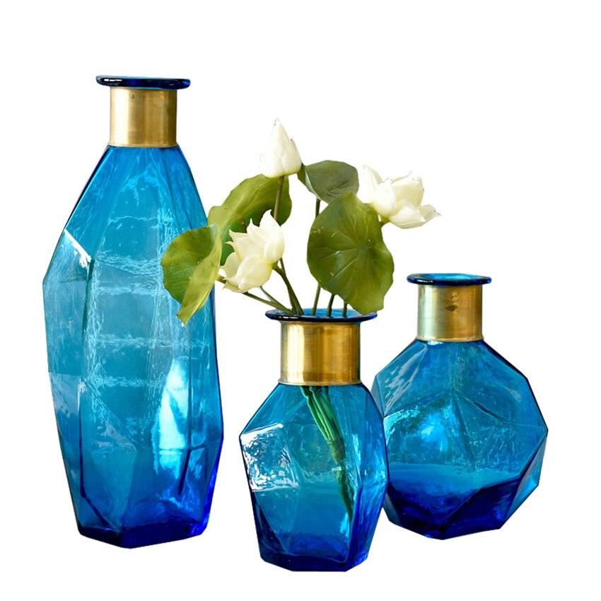 Online Get Cheap Blaue Blume Vase Glas -aliexpress.com | Alibaba Group Blumen Behaltern Zu Hause