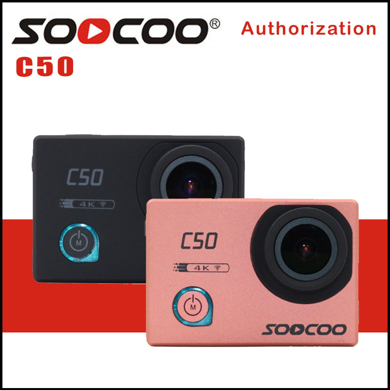 SOOCOO C50 Sports Action Camera Wifi 4K Camcorder Gyro Adjustable Viewing angles NTK96660 underwater 30M Waterproof Sport DV soocoo c30 sports action camera wifi 4k gyro 2 0 lcd ntk96660 30m waterproof adjustable viewing angles