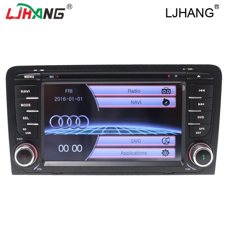 mueca de dolor 6.0 de 2 DIN auto radio car dvd player for Audi/A3/S3 2002-2011 Canbus Radio GPS Bluetooth 1080P GPS RDS DVD FM