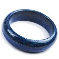 Натуральная Синий Лазурит Натуральный камень браслет Браслеты для Для женщин Круглый Шарм браслет ювелирные изделия внутренняя Диаметр 55