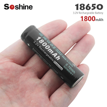 Soshine 3.2V LiFePO4 18650 Rechargeable Battery electronic cigarette power high discharge With PCB 1800mAh High Capacity soshine rechargeable 1800mah lifepo4 18650 batteries black 2 pcs
