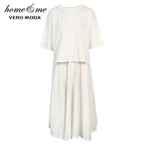 Image 5 - Vero Moda Womens 100% Cotton Loose Fit Striped Nightwear Suit Pajamas Sets