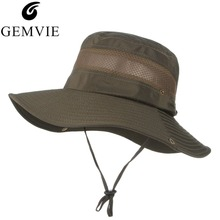 d0c06476 Fashion Summer Bucket Hats For Men Mesh Patchwork Breathable Boonie Hats  Military Camping Outdoor Hiking Sun