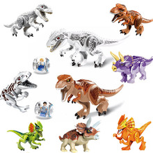 2Pcs/lot  79151 Jurassic Dinosaur world Figures Tyrannosaurs Rex Building Block Toys Compatible with