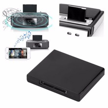 30 Pin Dock Docking Station Speaker with 1 LED Bluetooth v2.0 A2DP Music Receiver Adapter for iPod For iPhone цена