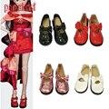 Papabasi 7.8 см 1/4 Куклы Мода PU Кожаные Ботинки fit 16 inch 43 см кукла для 60 см БЖД SD ню куклы