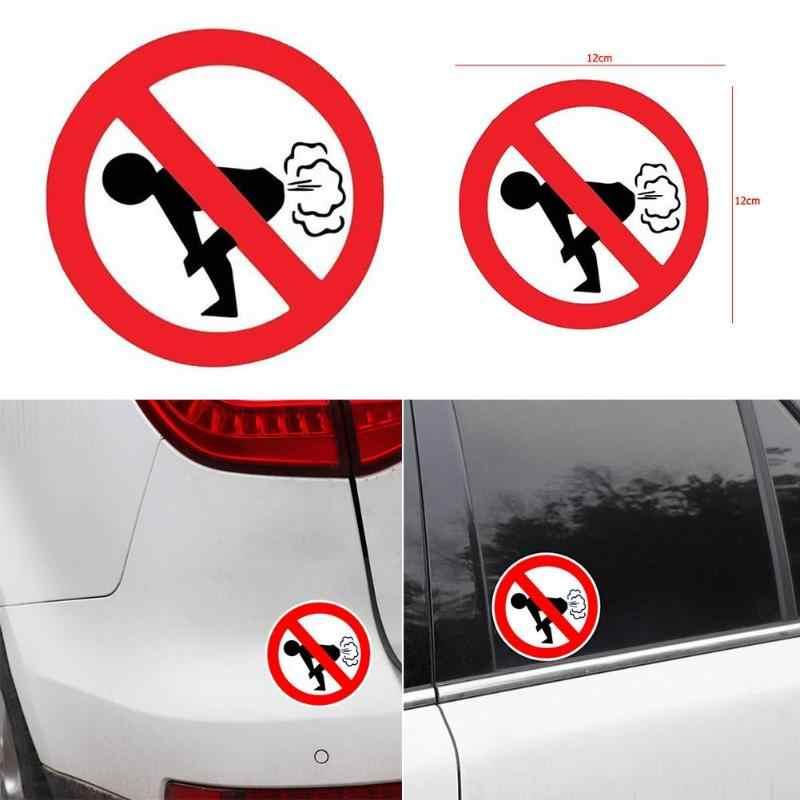 Pegatinas de advertencia divertidas reflectantes para coches sin pedorros pegatinas de advertencia divertidas para el cuerpo de la ventana pegatinas de motocicleta graciosas pegatinas de coche