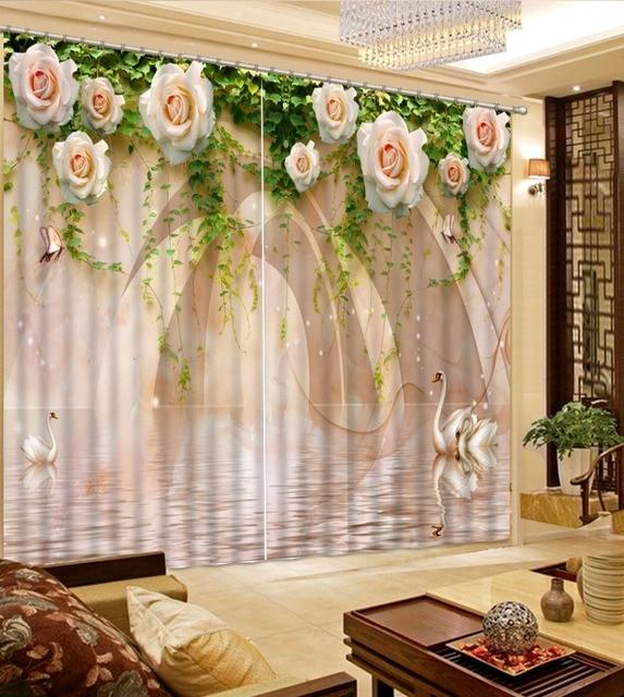 US $61.6 56% OFF|3D Vorhang Duschvorhang Haken Schwan Marmor Grüne Blätter  Rose Blume Vorhänge Bad Vorhang Minions in 3D Vorhang Duschvorhang Haken ...