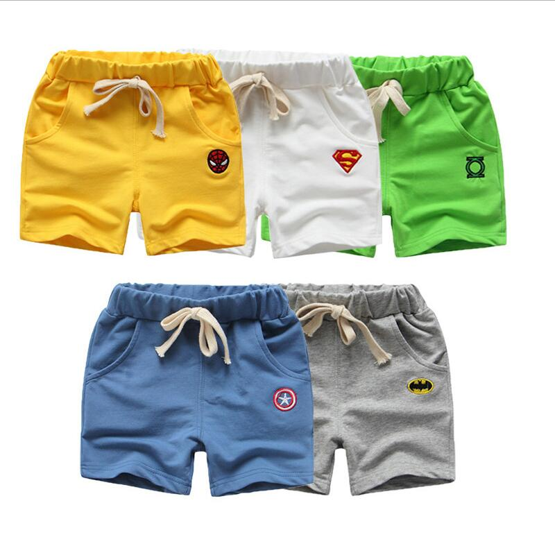 boy child half length pants shorts belt 2016 New Kids Summer pants baby solid casual pants