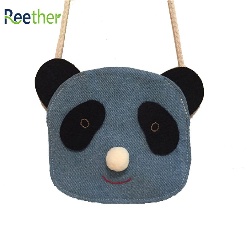 Reether Childrens Wallet Pouch Girls Small Purse Kids Lovely Panda Shoulder Coin Bags Decoration Gifts