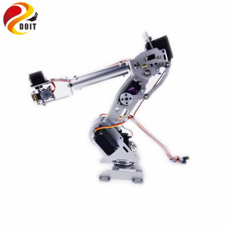 DOIT 7 Dof Robot Arm Metal Manipullator Mechanical Arm All Metal Structure for Arduino Robotic Education цена