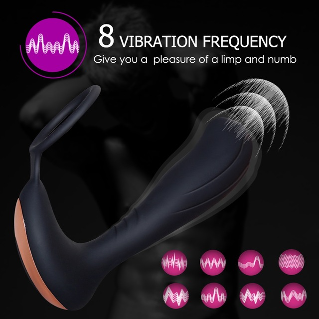 New Remote Control Prostate Massager USB Charging with Cock Ring Butt Plug Anal Vibrator Sex Toys for Men  Anal Prostata