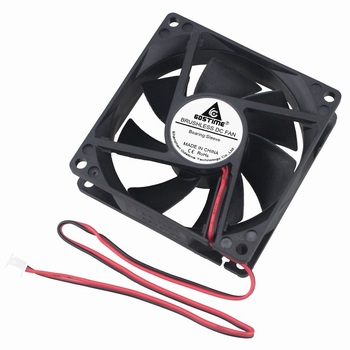 Gdstime 2 Pieces 12V PC Computer Case DC Cooling Fan 80mm x 25mm 80x80x25mm Two Wires 2Pin 3.14 inch 8cm 2 pieces lot computer pc case dc cooling fan 5 volt 35mm dupont connector