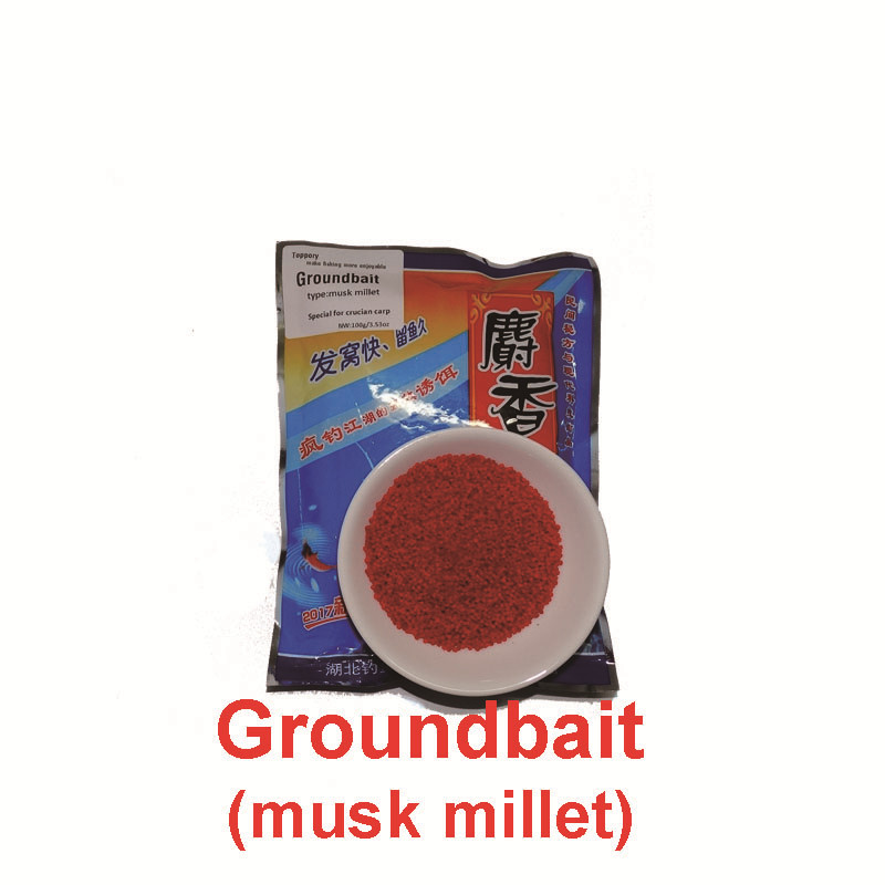 Toppory 1 Bag 100g Musk Millet Groundbait Crucian Carp Ground Bait Feeder DIY Making Bait Herabuna Fishing Attractant Additives yamaha pneumatic cl 16mm feeder kw1 m3200 10x feeder for smt chip mounter pick and place machine spare parts