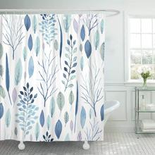 Занавеска для душа Синяя Зимняя Милая Акварельная Цветочная узор большая Цветочная сохранить дату и многое другое занавеска для ванной комнаты s