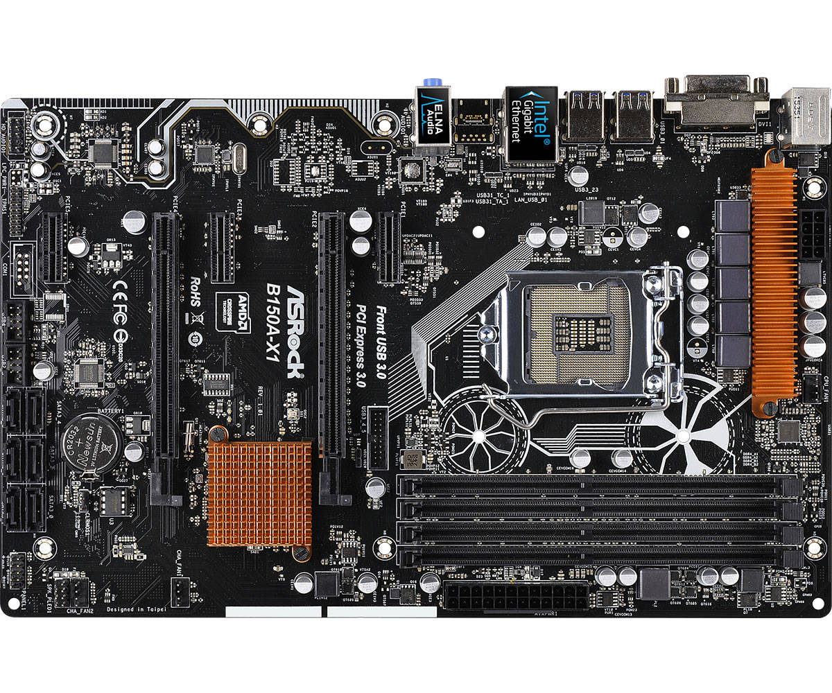 ASROCK B150A-X1 desktop computer motherboard DDR4 1151 interface