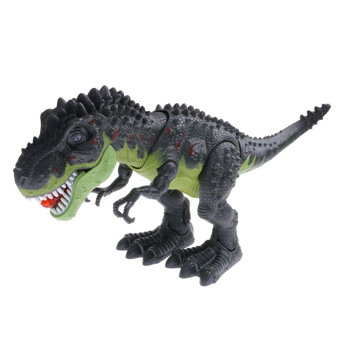 MALI-Cool Electric Walking Dinosaur Toy Robot W/ Sound Light Moving Kids Gift #2