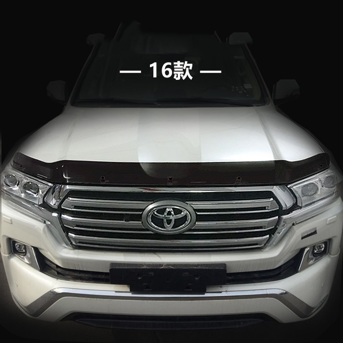 Car Styling ABS Plastic Sand Block Guard Deflectors Front Lip Gravel Block Sticker Cover For Toyota Land Cruiser LC200 2016 2017 car styling abs chrome door body mouldings protection liner garnish covers strip 4pcs for toyota land cruiser lc200 2008 2017