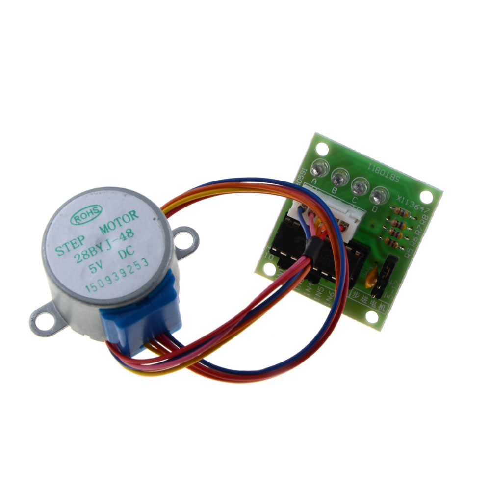5v 4 phase stepper step motor driver board uln2003 with for Three phase stepper motor driver