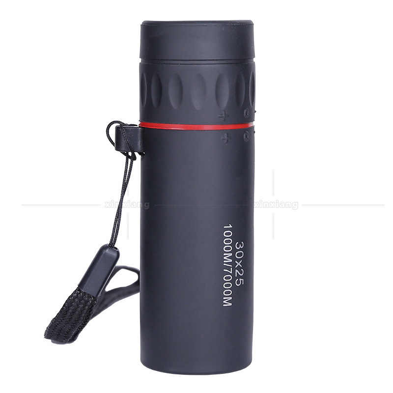 HD 30x25 משקפת טלסקופ משקפת התקרבות פוקוס ירוק סרט Binoculo אופטי ציד באיכות גבוהה תיירות היקף