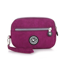 Bolso Kiple New 2018 Brand Nylon Wallet Double Layer Zipper Coin Pocket Organizer Purse Wristlet Clutch Slim Wallet For Gir(China)