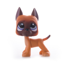 цена на Lps Pet Shop Toy cat Gray face gray Great Dane toys Free Shipping Short Hair PVC Model Action Figure toys for children Best Gift