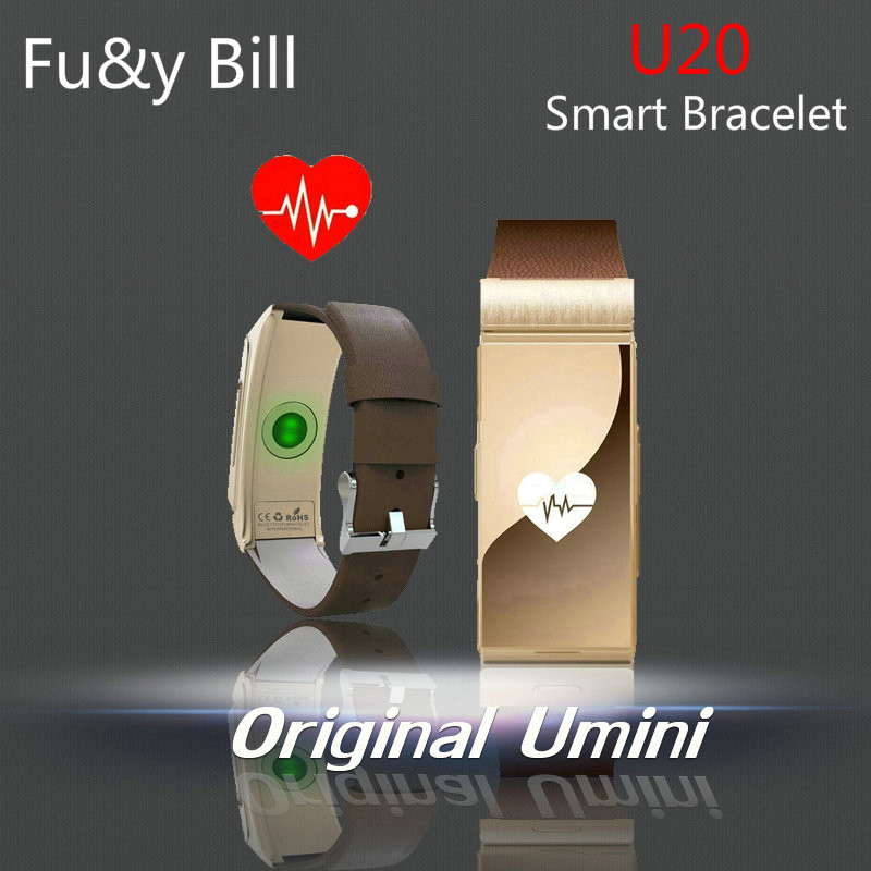 New Fashion U20 Bluetooth Smart Heart Rate Monitoring Bluetooth Headset Step Motion Smart Bracelet