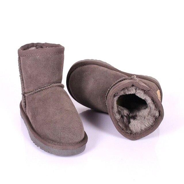 2016 Детей Мальчиков Обувь Обувь для Девочек Сапоги Малыш Снег Загрузки Зима Теплая Обувь Австралия Сапоги Для Детей Размер 23-34