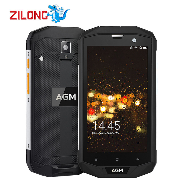Original AGM A8 4G LTE Smartphone 5.0 Inch Qualcomm MSM8916 Quad Core IP68 Waterproof Android 7.0 3GB 32GB 13.0MP Mobile Phone