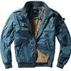 2018 New Thick Cashmere Parka Men Bomber Jacket Hip Hop Designs Slim Fit Pilot Bomber Jacket