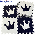"New 10pcs 11.8""*11.8"" Puzzle Floor GYM Soft Kids Foam Mat love Black&White Imperial crown cartoon eva foam mat"